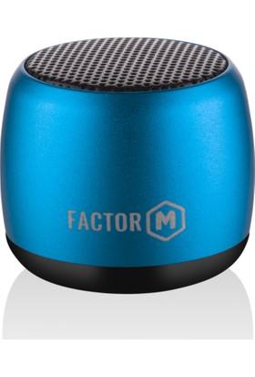 Factor-M Mini Kablosuz Hoparlör - Mavi