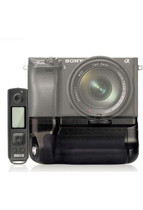 MeiKe Sony A6500 için MeiKe MK-A6500 Pro Battery Grip + 2 Ad. NP-FW50 Batarya