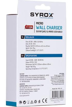Syrox 1A Samsung Micro Usb Şarj Cihazı Syx-J14
