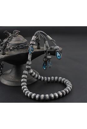 Tesbihevim Gt-117-1 1000 Ayar Gümüş El Örmesi Kazaziye Tesbih