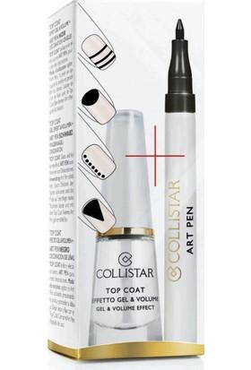 Collistar Top Coat Gel&Volume Effect+Art Pen Nail Black