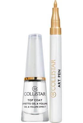 Collistar Top Coat Gel&Volume Effect+Art Pen Nail Gold
