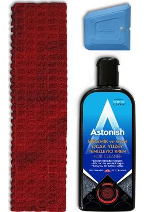 Astonish Seramik & Cam Ocak Temizleyici Seti Bez + Kazıyıcı