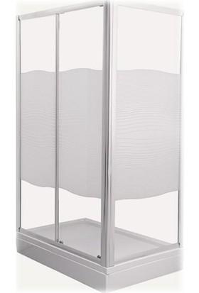 Selena 59930028000 120X80Cm Duş Teknesi + Ayak + Sifon + Ön Ve Yan Panel + Duşakabin (Cam) Set28