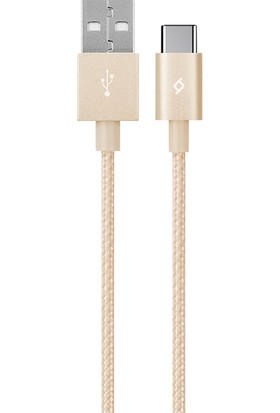 Ttec 2DK18A Alumicable Type-C Şarj Kablosu Altın
