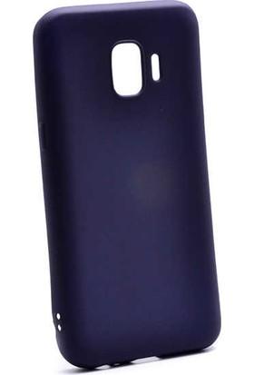 Case 4U Samsung Galaxy J2 Core Kılıf J260F Mat Silikon Arka Kapak - Premier - Lacivert