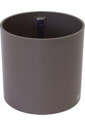 Greenmall Silindir Manyetik Saksı 10 Cm - Kahverengi
