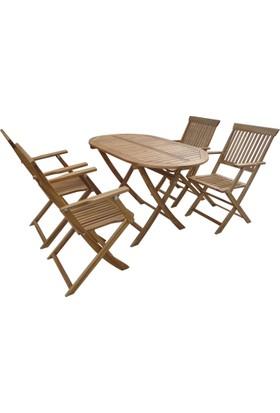 Hepsiburada Home Balkon Bahçe Masa Takımı 4 sandalye 1 Masa