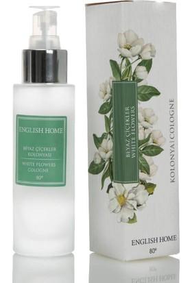 English Home Beyaz Çiçekler Kolonya 60 Ml Beyaz