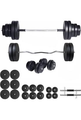 Ecgspor 108kg Halter Seti & Dambıl Seti Ağırlık Seti Fitness Seti Z Bar