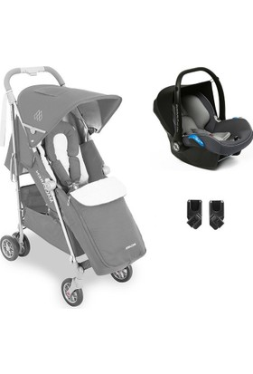 Maclaren Techno Xlr Travel Sistem Bebek Arabası Charcoal Silver