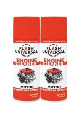 2Li Set Flash Universal Motor Temizleme Sprey 200Ml