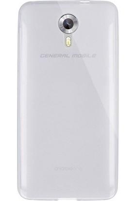 Kılıfist General Mobile GM 5 Kılıf 0.2 mm Şeffaf Silikon + Temperli Cam