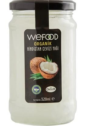 Organik Orser Sertifikalı Hindistan Cevizi Yağı Wefood 320 ml