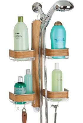 Bosphorus Banyo İçi Duş Jeli,Şampuan Ve Sabun Düzenleme Rafı Bambu