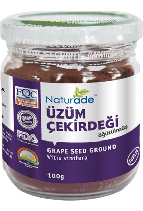 Naturade Öğütülmüş Üzüm Çekirdeği 100 gr