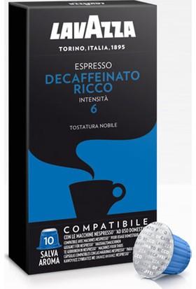 Lavazza Espresso Decaffeinato Ricco Nespresso Uyumlu Kapsül Kahve 10Lu