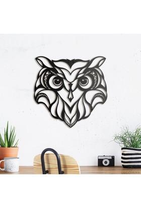 Decovana Owl Metal Duvar Dekoru