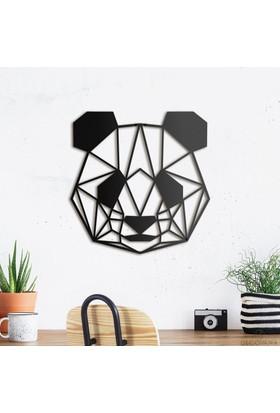 Decovana Panda Metal Duvar Dekoru