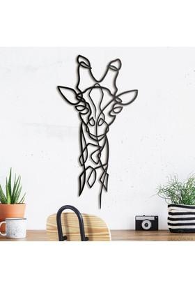 Decovana Giraffe Metal Duvar Dekoru