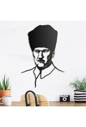 Decovana Atatürk Metal Duvar Dekoru