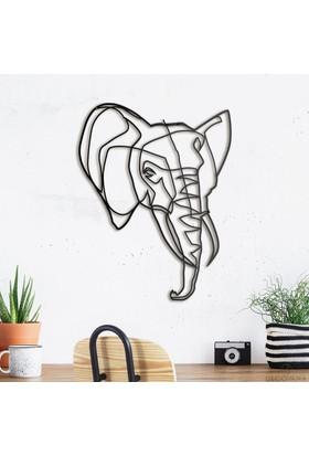 Decovana Elephant Head Metal Duvar Dekoru