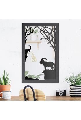 Decovana Mountain Goat Metal Ayna