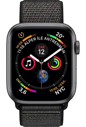 Apple Watch Seri 4 40mm GPS Uzay Grisi Alüminyum Kasave Siyah SporLoop - (MU672TU/A)