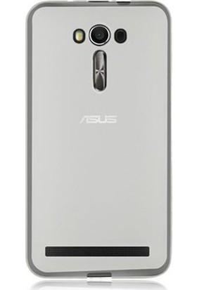 Ehr. Asus Zenfone 2 Laser Ultra İnce Ultra Lüx Soft Şeffaf Silikon Kılıf + Ekran Koruyucu Cam