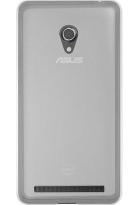 Ehr. Asus Zenfone 6 Ultra İnce Ultra Lüx Soft Şeffaf Silikon Kılıf + Ekran Koruyucu Cam