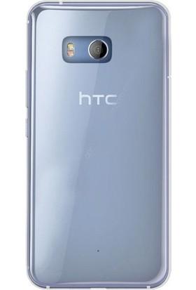 Ehr. HTCU11 Ultra İnce Ultra Lüx Soft Şeffaf Silikon Kılıf + Ekran Koruyucu Cam