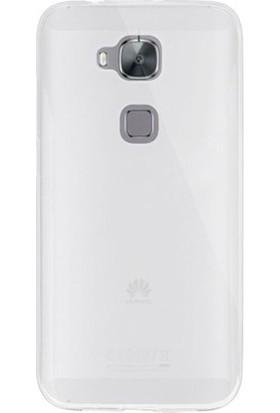 Ehr. Huawei G8 Ultra İnce Ultra Lüx Soft Şeffaf Silikon Kılıf + Ekran Koruyucu Cam