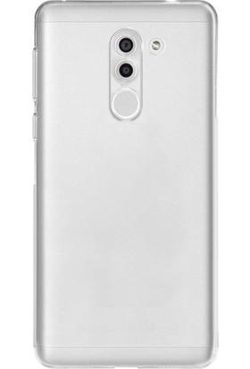 Ehr. Huawei GR5 2017 Ultra Lüx Soft Şeffaf Silikon Kılıf + Ekran Koruyucu Cam