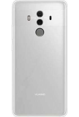 Ehr. Huawei Mate 10 Pro Ultra Lüx Şeffaf Silikon Kılıf + Ekran Koruyucu Cam