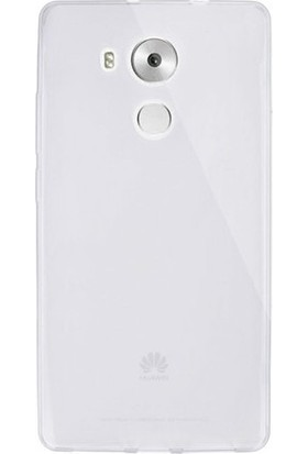 Ehr. Huawei Mate 8 Ultra İnce Ultra Lüx Soft Şeffaf Silikon Kılıf + Ekran Koruyucu Cam