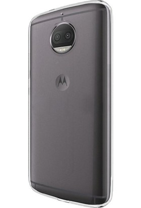 Ehr. Lenova Moto G5S Plus Ultra İnce Ultra Lüx Soft Şeffaf Silikon Kılıf + Ekran Koruyucu Cam