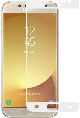 Ehr. Samsung Galaxy C5 Pro 3D Full Kaplama Ultra Lüx Ekran Koruyucu Cam