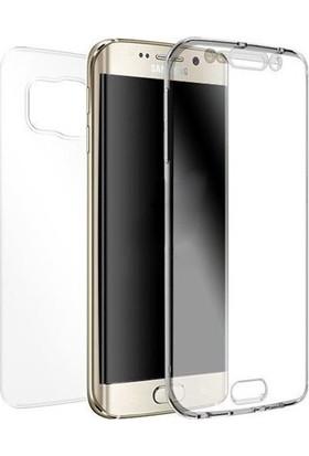 Ehr. Samsung Galaxy S6 Edge Ultra Lüx Ön Arka Full Koruma 360 Clear Şeffaf Kılıf