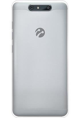 Ehr. Turkcell T80 Ultra İnce Ultra Lüx Soft Şeffaf Silikon Kılıf + Ekran Koruyucu Cam