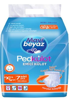 Mavi Beyaz Pedkülot Emici Külot Extra Large