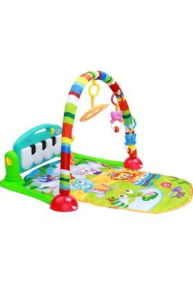 Huanger Müzikli Piyanolu Bebek Oyun Halısı Normal Boy Mavi Yeşil