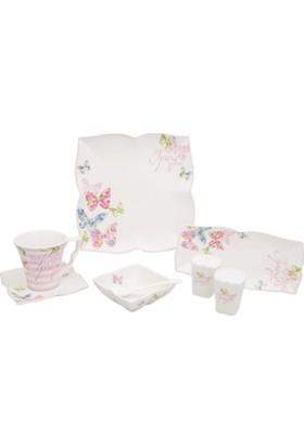 Karaca Spring Blossom 32 Parça 6 Kişilik Porselen Kahvaltı Takımı