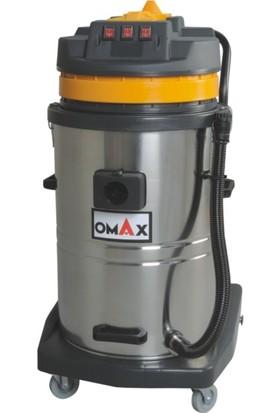 Omax Sanayi Tipi Islak - Kuru 3 Motorlu Elektrik Süpürgesi