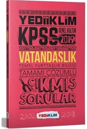 Yediiklim Yayınları 2019 KPSS Vatandaşlık Tamamı Çözümlü Çıkmış Sorular