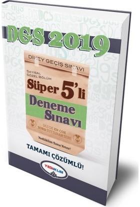 Yediiklim Yayınları 2019 DGS Süper 5'Li Tamamı Çözümlü Deneme Sınavı
