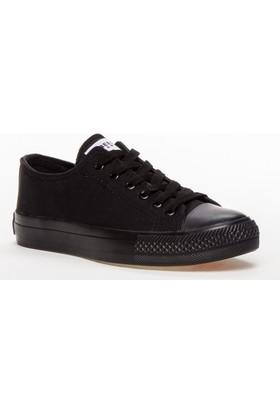 Tarçın Keten Kadın Ayakkabı Siyah