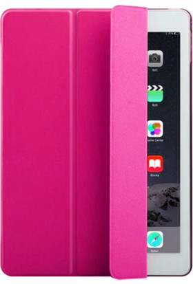 Redpoloshop Apple iPad 6. Nesil 2018 9.7 A1893 A1954 Kılıf Smart Cover Slim Pembe + Ekran Koruyucu Cam