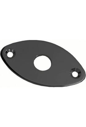 Dr Parts JP1/BK Oval Metal Jack Plate - Siyah