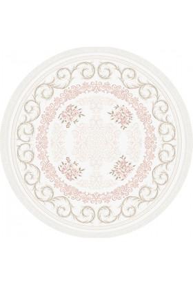 Tiffany Halı Meyra T1794APO 200X200 cm Daire Saçaklı Klasik Halı