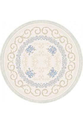 Tiffany Meyra T1794MO 200X200 cm Daire Klasik Saçaklı Halı
